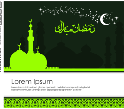 Ramadan Kareem Greeting Card Design Template Vector