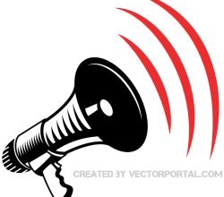 Megaphone Clip Art Image