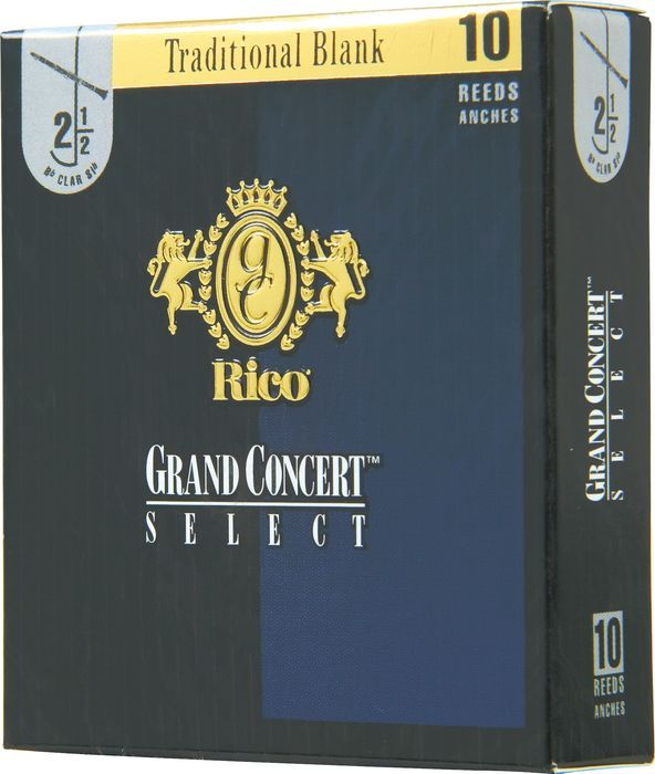 Strength 2.5 Rico Grand Concert Select Bass Clarinet Reeds 5-pack