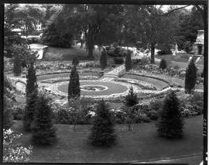 Asa Gray Garden, Arthur Cushman Haskell, 1938, gelatin silver print.