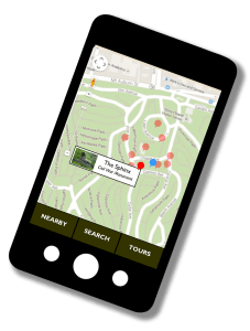 Conceptual sketch of Mount Auburn's proposed new mobile app.