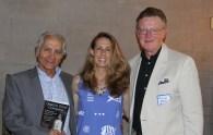 Kim Nagy with contributors Gary Goshgarian (l) and William Martin (r).