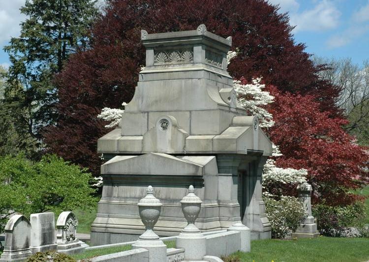 Rear of Freeland Mausoleum, Spring 2006