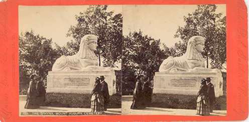 The Sphinx, c. 1850, Union View Co. Publishers, Stereo View.