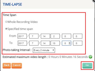 zeitraffer video erstellen