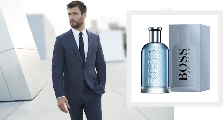 Chris Hemsworth Is The Face Of Boss Bottled Beauty Packaging