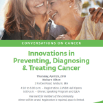 """Save the Date: Lahey Health Presents """"Innovations in Preventing, Diagnosing & Treating Cancer' on April 26th"""