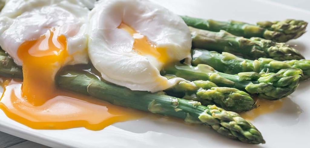 St. Supéry Grilled Asparagus with Poached Egg and Pancetta