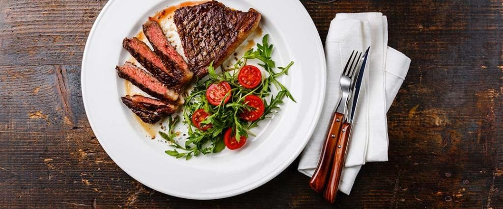 St. Supéry Grilled Flat Iron Steak with Heirloom Tomatoes and Toasted Spice Vinaigrette