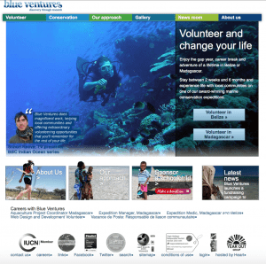 Blue Ventures website post relaunch in 2014