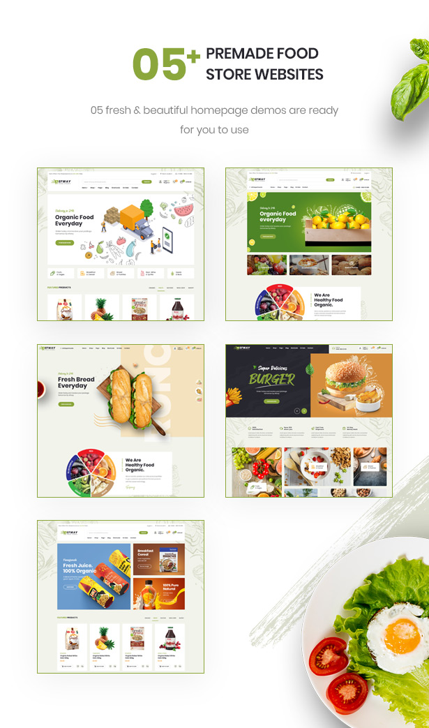 Efway Food Store WordPress Theme Stunning Homepages