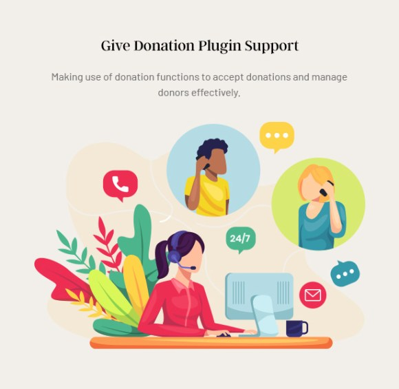 Gainlove Nonprofit WordPress Theme - Give WP Plugin Support
