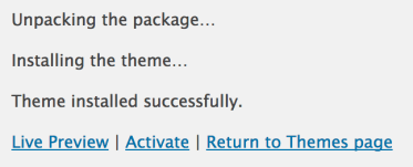 How to Install WordPress Theme - install a theme on wordpress successful install