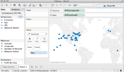 Copy and Paste Latitude and Longitude in Tableau Desktop