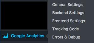 google analytics wordpress dashboard panel pop out