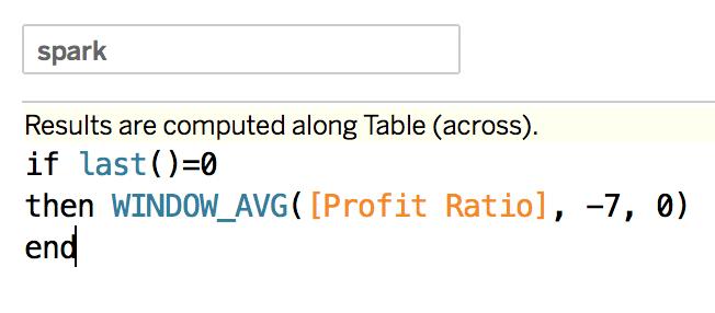 optimized sparkline calculation in a tableau calculation alt text