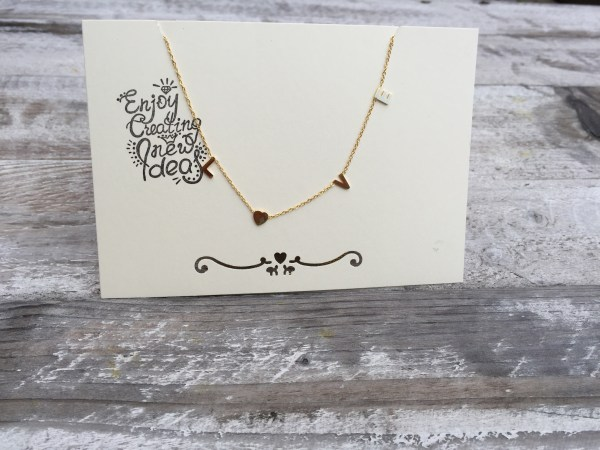 Love letters gold plated ketting- goud