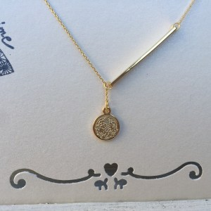 ketting coin & bar Goud