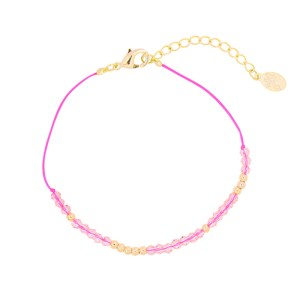 ARMBAND BEAUTY & THE BEADS Roze.