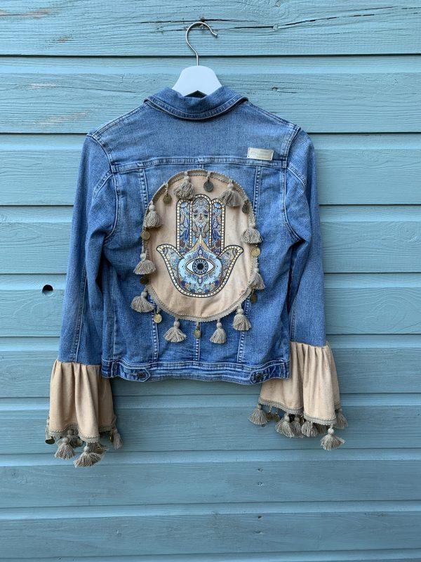 Bohemien jacket Fatima-hand -handmade. maat S