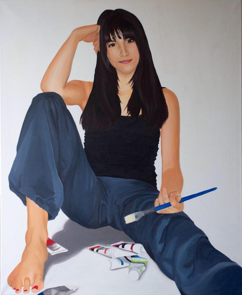 The Painter, acrylic on canvas, February 2013