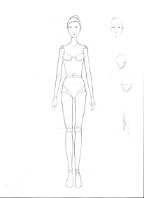 Woman, frontal view