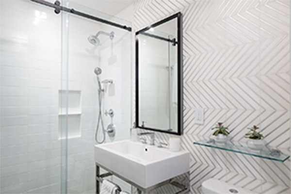 white marble bathroom Interior Design - Interior Design in NYC & Westchester