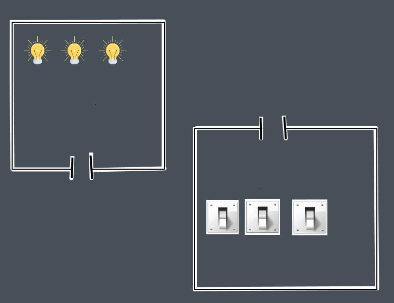 three lamps logic task 1 - Логическая задача с тремя лампочками и выключателями