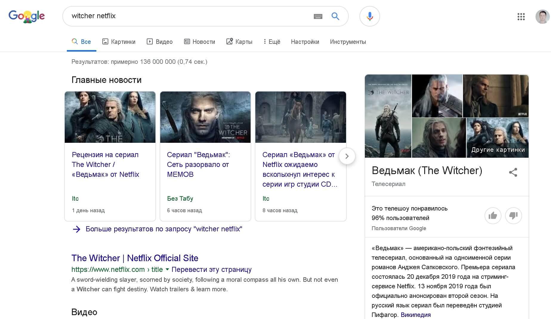 witcher noclick google - В июне 2019 доля no-click запросов к Google впервые превысила 50%