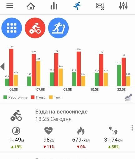 Notify n Fitness for Mi Band details - Три способа связать Xiaomi Mi Smart Band с приложением Strava на примере велосипеда