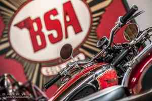 vintage BSA motorcycle photography los angeles