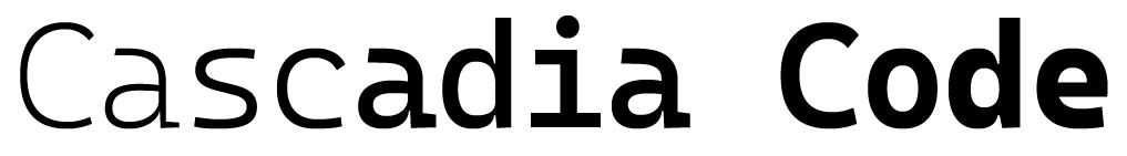 Image cascadia font weight