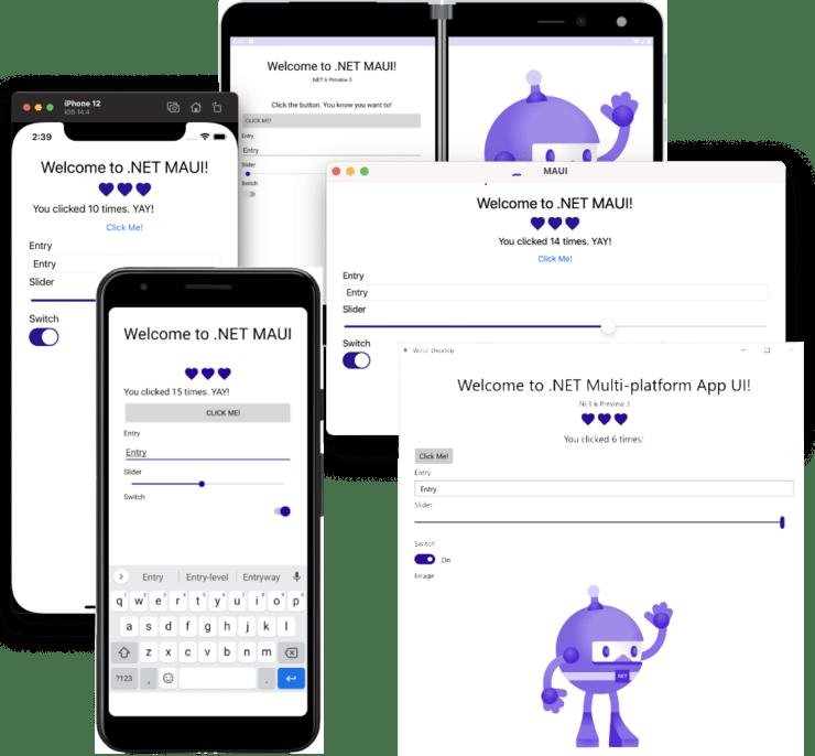 .NET MAUI farklı platformlarda native çıktıları