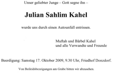 Julian Beisetzung