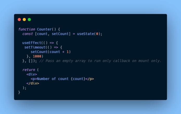 componentDidMount using useeffect