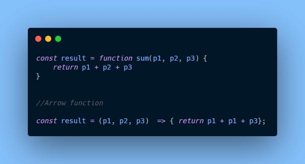 Arrow function