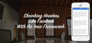 Shrinking Headers Like Facebook With the Ionic Framework