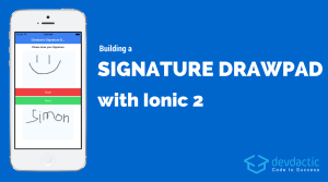 Building a Signature Drawpad using Ionic