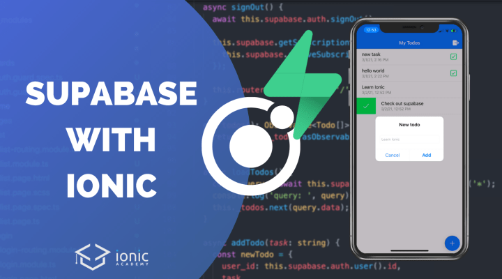 How to Integrate Supabase in Your Ionic App