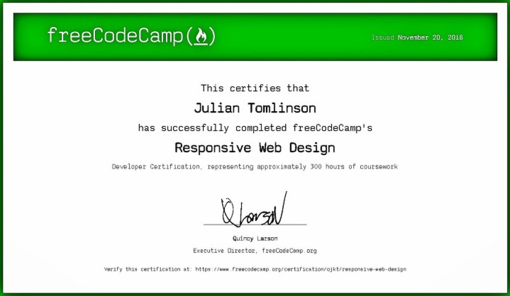 How much do I pay for a freeCodeCamp Certificate?