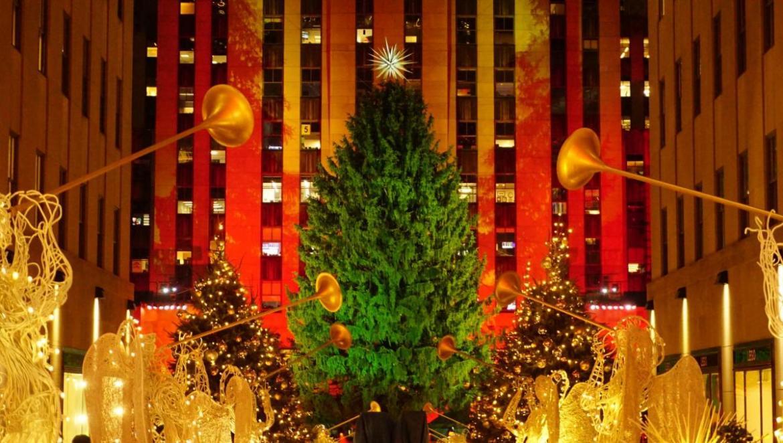 Andrew DallosHappy holidays in Rockefeller Center