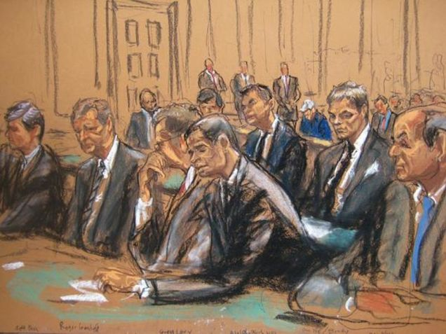The courtroom sketch