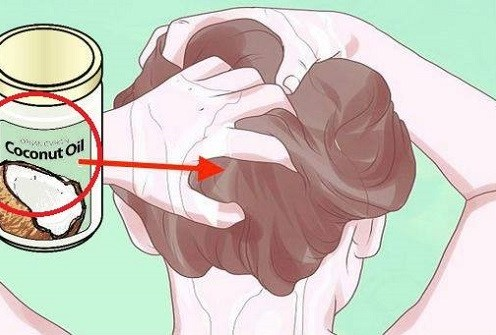 Coconut oil strengthens hair and prevents it from turning grey