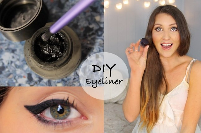 Make your very own gel eyeliner at home with natural ingredients