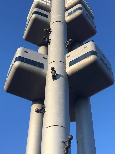 Creepy tower in Prague