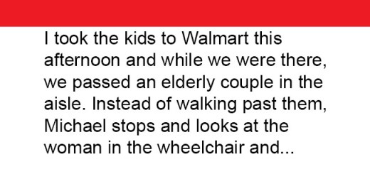 When this mom overhears her son's conversation with an elderly woman, she is deeply touched