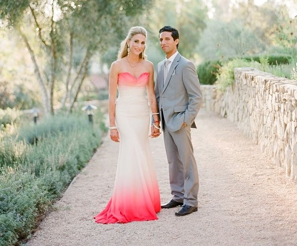 dip dye wedding dresses 4