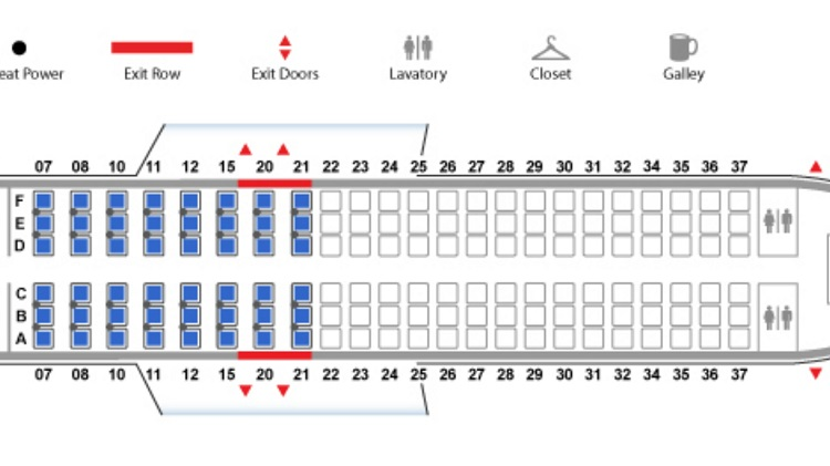 Airlines and seating arrangements