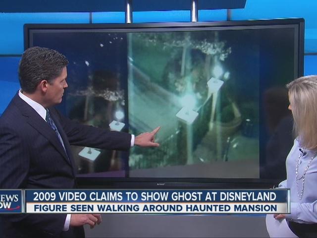 ghost wandering around Disneyland