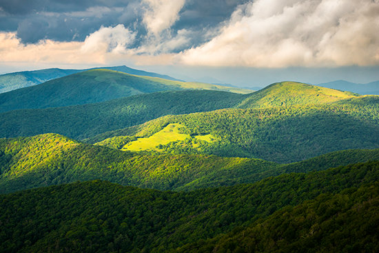 The Appalachian Mountains are shrinking